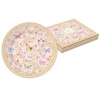 Тарелка десертная (розовая) Majestic в подарочной упаковке