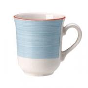 Кружка «Рио Блю», фарфор, 285мл, белый,синий
