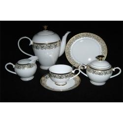 Чайный сервиз из 21 предмета на 6 персон «Согдиана золото»