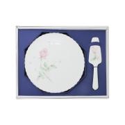 Набор для торта: блюдо + лопатка Апрельская роза