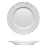 Тарелка мелкая «Моцарт», фарфор, D=24см, белый