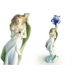 Статуэтка-подсвечник «Ирис» (голубой)31 см
