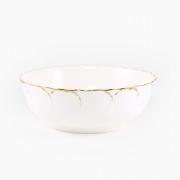 Салатник 23см «Белый с золотом»
