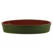 Форма для запекания 33 см овальная зеленая