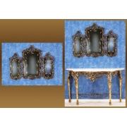 Зеркало-трюмо золотистый 82х106 см.