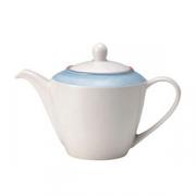 Чайник «Рио Блю», фарфор, 600мл, белый,синий