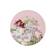 Тарелка десертная (розовая) Райский сад в подарочной упаковке