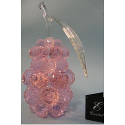 Груша большая розовая, прозрачный лист d 40 14х26 см