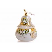 Ваза для конфет «Лепка белая груша»