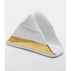 Салфетница. Фарфор, декор под золото высота 10.5см,диаметр
