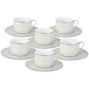 Чайный набор Жемчуг : 6 чашек + 6 блюдец