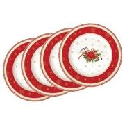 Набор из 4-х десертных тарелок Рождественская коллекция