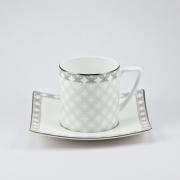 Набор 6 чайных пар 250мл «Ванетта»