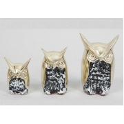 Трио совы син 7х4,5см.
