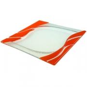 Тарелка «Стрим» 25*25см оранжевая
