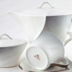 Сервиз чайный 17пр. на 6 персон «Дюк серый»