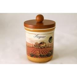 Банка для сахара с деревянной крышкой «Кьянти» 0,75 л