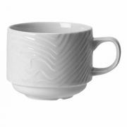 Чашка кофейная «Оптик», фарфор, 80мл, D=65,H=40,L=90мм, белый