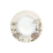 Тарелка суповая Ботаника (бел-бежевая) без инд.упаковки