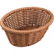 Корзина плетен. для хлеба овал. H=8, L=23, B=18см; коричнев.