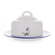 Масленка круглая с крышкой «Бернадот Гуси»