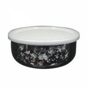 Эмалированный лоток 18 см «Fuji Horo», серия «Сакура на черном»
