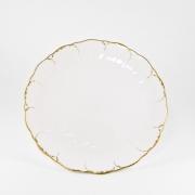 Набор 6 тарелок десертных 23см «Белый с золотом»