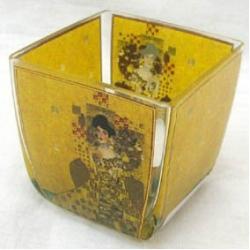 Подсвечник стеклянный «Адель» 6,5х6,5 см.
