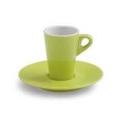 Чашка коф.с блюдцем; фарфор; 70мл; зелен.
