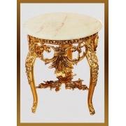 Стол «Наполеон» мал. кругл. круж. золотистый