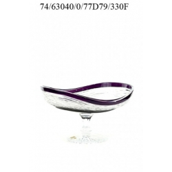 Ваза для конфет и фруктов фиолетовая 330