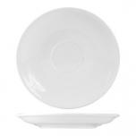 Блюдце «Кунстверк», фарфор, D=14,H=2см, белый