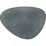 Тарелка мелкая «Органика» L=28, B=20.5см; серый