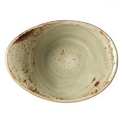 Салатник «Крафт»  125мл; H=5.5,L=13,B=9.5см; зелен.