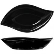 Салатник-лист 13.5*7.5*2.9 черн.фарфор