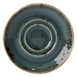 Блюдце «Крафт»; фарфор; D=11см; синий