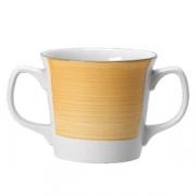 Кружка 2ручки «Рио Еллоу»; фарфор; 285мл; белый,желт.