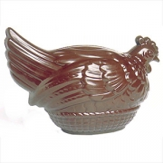 Форма для шоколада «Курица на корзине», поликарбонат