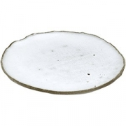 Тарелка бетон D=14см; белый, серый