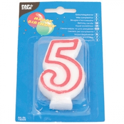 Свеча-цифра 5, ко дню рождения