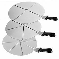 Поднос для нарезки пиццы на 4 куска, d=50см