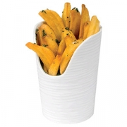 Стакан для картошки фри; фарфор; D=95,H=125мм; белый