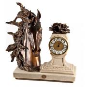 Скульптура-часы «Голова лошади» 38см