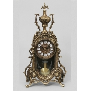Часы с маятником каштан 38х22 см.