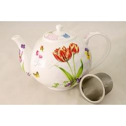 Чайник с ситечком «Романтические цветы» 1,1 л