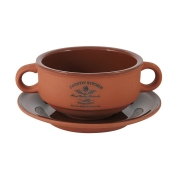 Суповая чашка на блюдце Умбра