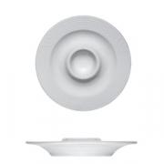 Подставка для яйца «Карат», фарфор, D=130,H=25мм, белый