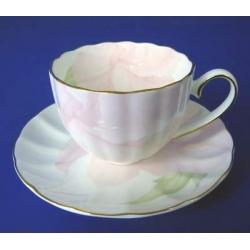 Н 1070011 Ирис ПИНК н-р 150мл чашек кофейных с блюдцем 6/12 (зол.лента)