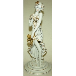Статуэтка «Девушка - Лето» (белая с золотом), высота 30 см