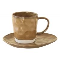 Чашка с блюдцем (коричневый) Interiors без индивидуальной упаковки